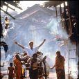 Patrick Swayze sur le tournage de La Cité de la Joie en 1992