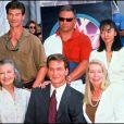 Patrick Swayze en 1997 avec sa famille pour son étoile sur Hollywood Boulevard en 1997