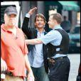 Patrick Swayze après une première chimiothérapie il est de retour sur le tournage de The Beast pour la télévision en juillet 2008