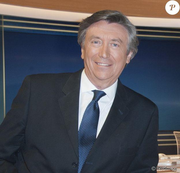 Exclusif - Jacques Legros sur le plateau du Journal de TF1 le 30 avril 2015.