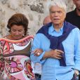 Bernard Tapie et sa femme Dominique à Saint-Tropez. Le 15 juillet 2020.