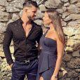 Florent Ré avec sa fiancée Yvane, le 14 juillet 2018
