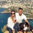 Florent Ré et sa fiancée Yvane à Cassis, le 21 octobre 2018