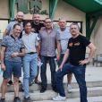 "Eric de ""Koh-Lanta 2020"" avec son équipe pour le Rallye, le 1er août 2020"