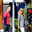 Gwyneth Paltrow et Chris Martin à Los Angeles en 2012.