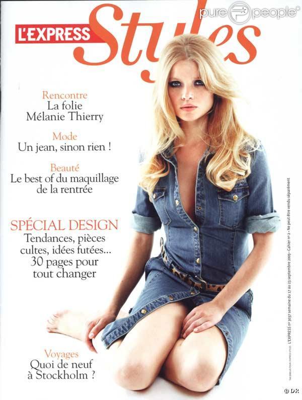 Mélanie Thierry en couverture de L'Express Styles