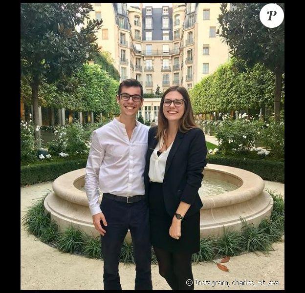 """Charles du """"Meilleur Pâtissier"""" et sa petite amie Ava au Ritz de Paris - Instagram, 20 octobre 2018"""