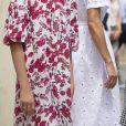 Le roi Felipe VI d'Espagne, la princesse Leonor, l'infante Sofia (blessée au genou) , la reine Letizia - La famille royale d'Espagne arrive au centre Son Roca à Palma de Majorque le 11 août 2020.