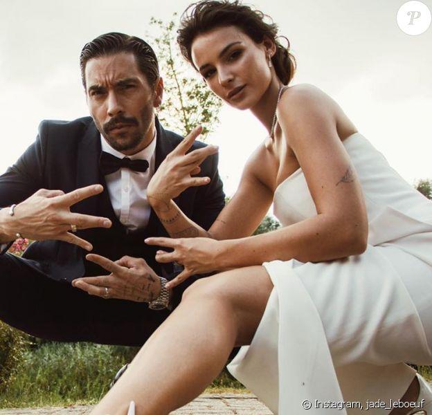 Jade Leboeuf et son mari sur Instagram.