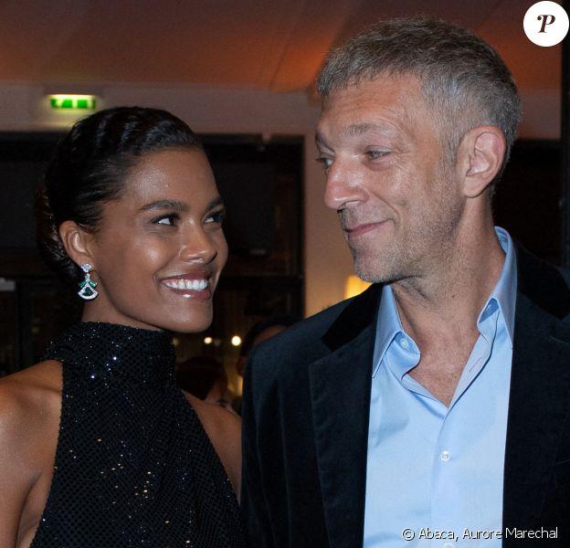 Tina Kunakey et Vincent Cassel aux Césars.