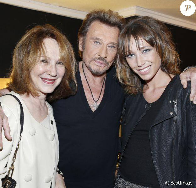 Exclusif - Nathalie Baye et Laura Smet - People au concert de Johnny Hallyday au POPB de Bercy à Paris - Jour 2