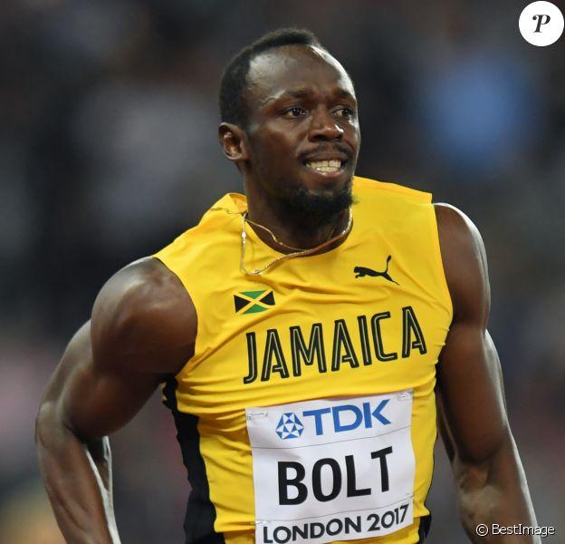 Usain Bolt se qualifie lors des demi-finales du 100m lors des Mondiaux d'athlétisme à Londres, le 4 août 2017.