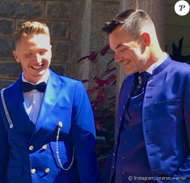 Lorenzo Werner a partagé cette photo de son mariage avec Leona Winter sur Instagram.