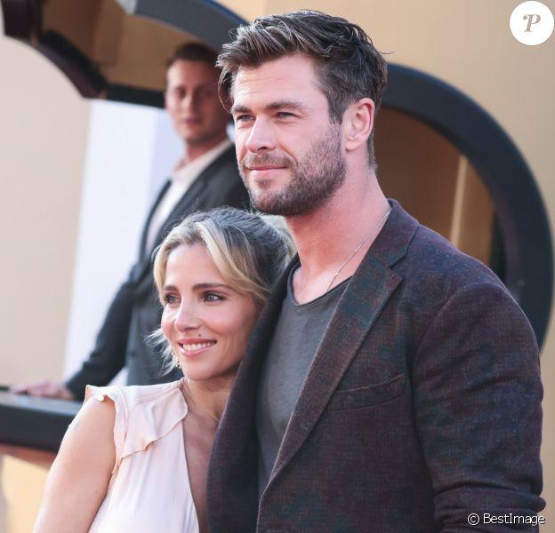 """Elsa Pataky, Chris Hemsworth - Les célébrités assistent à la première de """"Once Upon a Time in Hollywood"""" à Hollywood, le 22 juillet 2019."""