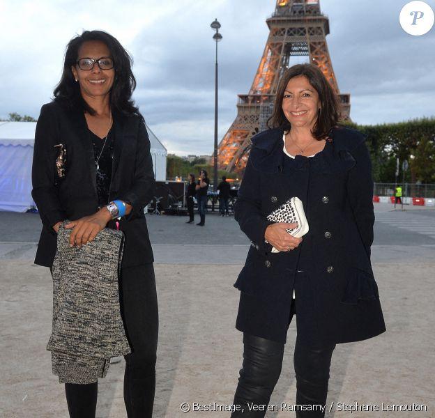 Exclusif - Audrey Pulvar et Anne Hidalgo (Maire de Paris) lors de la Fête Nationale à Paris © Veeren Ramsamy / Stephane Lemouton / Bestimage