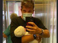 Benjamin Castaldi gaga devant l'éveil de son fils Gabriel : craquante photo