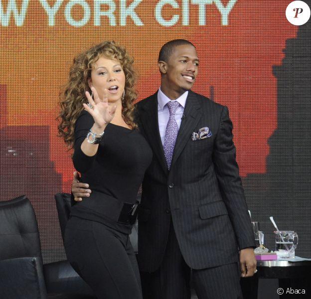Mariah Carey et Nick Cannon, invités de l'émission d'Oprah Winfrey à New York le 18 septembre 2009
