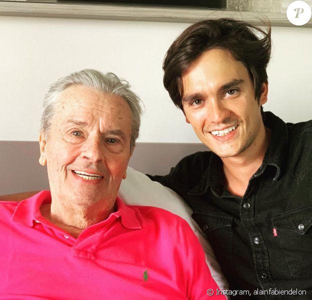 Alain Delon et son fils Alain-Fabien sur Instagram, septembre 2019.