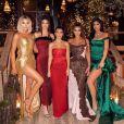 Khloé Kardashian, Kendall Jenner, Kourtney Kardashian, Kim Kardashian et Kylie Jenner ont assisté à la soirée du réveillon de Noël des Kardashian, chez Kourtney Kardashian. Los Angeles, Noël 2019.