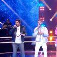 """Jenifer, Kendji Girac, Patrick Fiori et Soprano lors des battles de """"The Voice Kids 2020, sur TF1, le 19 septembre 2020"""