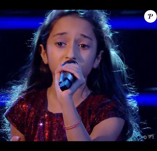 """Battle entre Rébecca, Martin et Thomas dans """"The Voice Kids"""", sur TF1"""