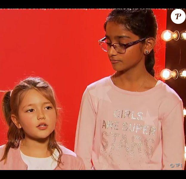 """Répétitions pour les battles de Kanesha, Léna et Nathan, émission """"The Voice Kids"""" sur TF1"""