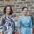 Comtesse Nathalie de Lannoy et Comtesse Gaelle de Lannoy - - Baptême du Prince Charles de Luxembourg à l'Abbaye Saint-Maurice-et-Saint-Maur, Clervaux, Luxembourg, 19 septembre 2020. © Sophie Margue / Cour Grand-Ducale via Bestimage