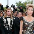 """Natacha Amal (robe Christophe Guillarmé, pochette Carmen Steffens, bijoux Elsa Lee) - Montée des marches du film """"Grace de Monaco"""" pour l'ouverture du 67 ème Festival du film de Cannes – Cannes le 14 mai 2014"""
