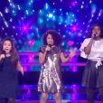 Rania, Flora et Myriam pendant les battles de The Voice Kids saison 7 - samedi 26 septembre 2020, TF1