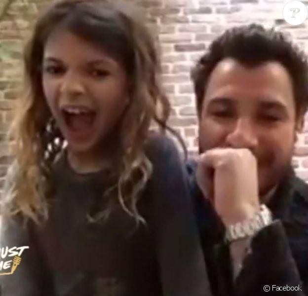 """Michaël Youn avec sa fille Seven dans """"Show Must Go Home"""", sur Facebook."""