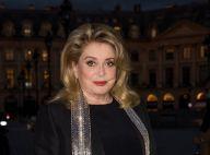 Catherine Deneuve signe son grand retour en soirée, élégance pour Vuitton