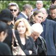 Frank Delay arrive à l'église Sainte-Geneviève-des-Bois, pour rendre un dernier hommage à son ami Filip Nikolic. 24/09/09