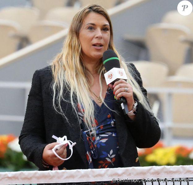 Marion Bartoli, enceinte, lors du premier tour des internationaux de tennis de Roland Garros à Paris © Dominique Jacovides / Bestimage