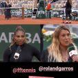 Marion Bartoli heureuse d'avoir revu Serena Williams à Roland-Garros, le 28 septembre 2020.