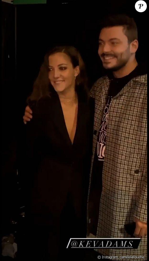 Camille Lellouche et Kev Adams au Etam Live Show, le 29 septembre 2020 à Paris.