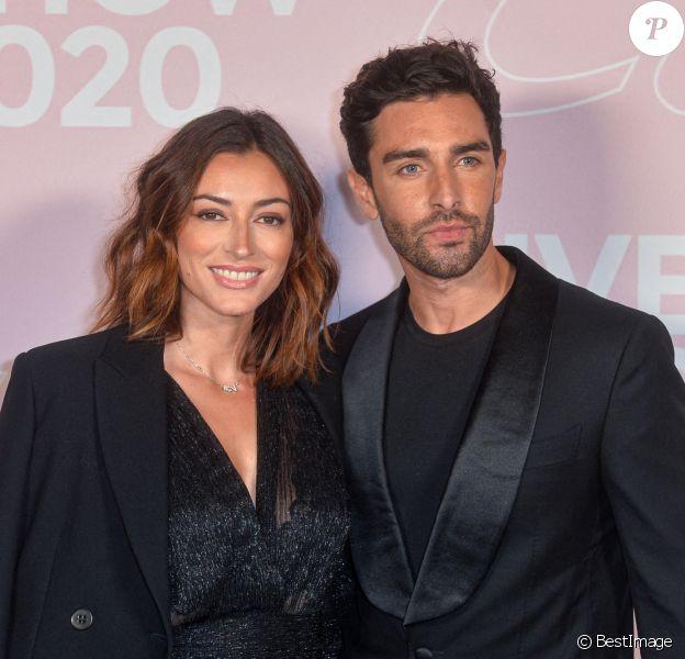 Rachel Legrain-Trapani et Valentin Léonard - Photocall du défilé Etam Live Show 2020 à Paris. © Pool Agence Bestimage