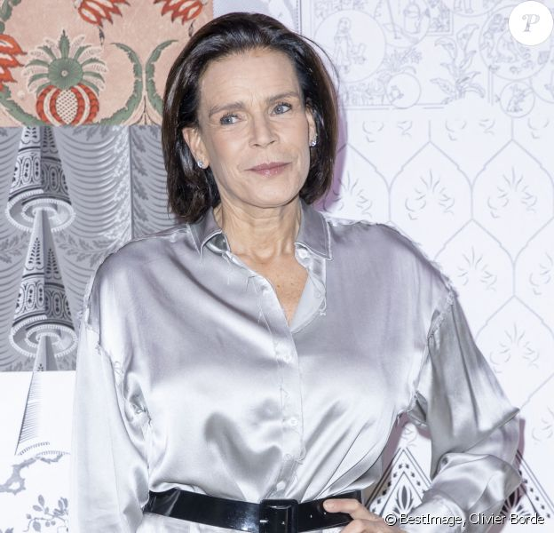 """La princesse Stéphanie de Monaco lors du défilé de mode prêt-à-porter """"Alter"""" automne-hiver 2020/2021 lors de la semaine de la mode à Paris. © Olivier Borde/Bestimage"""