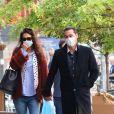 Katie Holmes et son compagnon Emilio Vitolo Jr se baladent en amoureux dans le quartier de SoHo à New York pendant l'épidémie de coronavirus (Covid-19), le 25 septembre 2020