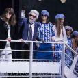 Karl Lagerfeld et Virginie Viard - Défilé croisière Chanel au Grand Palais à Paris le 3 mai 2018. © Olivier Borde/Bestimage