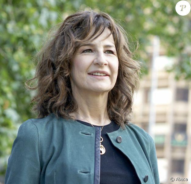 """Valérie Lemercier à Madrid, deux avant le tournage du film """"Aline"""", inspiré de la vie de Céline Dion. Sortie prévue fin d'année 2020."""