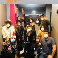 Patrick Fiori a partagé des photos des coulisses de The Voice Kids saison 7. Le 10 octobre 2020.