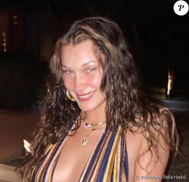 Bella Hadid en octobre 2020.