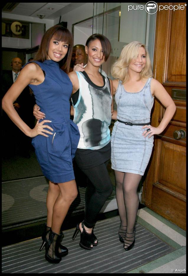 Jade Ewen, Amelle Berrabah, Heidi Range des Sugababes le 25 septembre à Londres