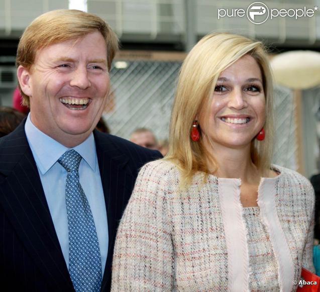 Maxima et Willem-Alexander des Pays-Bas visitent un événement en faveur de la lutte contre la pauvreté dans le monde, à La Haye, le 26 septembre 2009