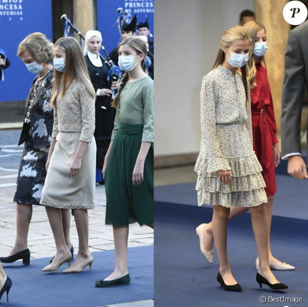 La princesse Leonor d'Espagne lors des Prix de la Fondation Princesse des Asturies à Oviedo, le 16 octobre 2020.