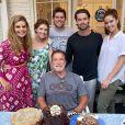 Arnold Schwarzenegger, son ex-femme Maria Shriver et leurs 4 enfants.