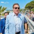 """Arnold Schwarzenegger se rend sur le photocall du film """"Wonders of the Sea 3D"""" à lors du 70ème festival de Cannes le 20 mai 2017."""