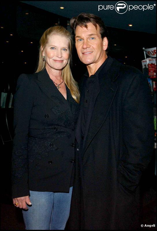 Patrick Swayze et son épouse Lisa Niemi