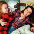 Caterina Scorsone avec ses trois filles sur Instagram, mars 2020.