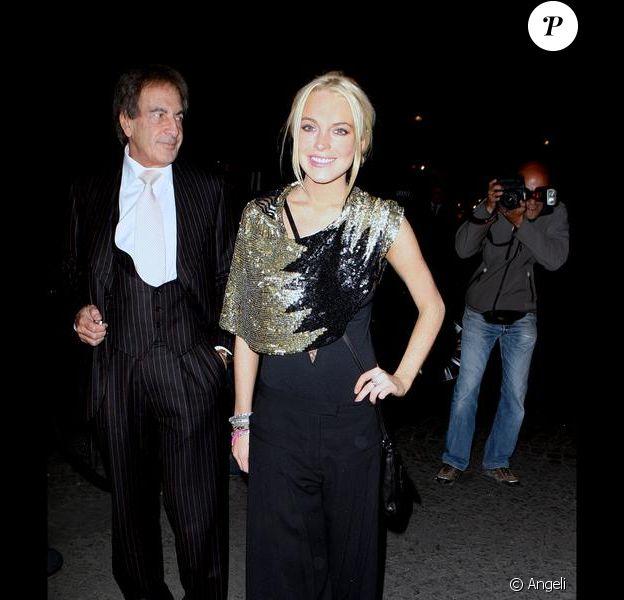 Lindsay Lohan à Paris, le 1er octobre 2009